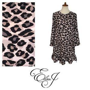 NWOT Eliza J. leopard Print Shift Dress. Size 12